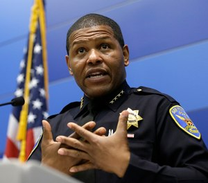 San Francisco Police Chief Bill Scott recently announced the agency would limit the distribution of booking photographs of people arrested. (AP Photo/Eric Risberg, File)
