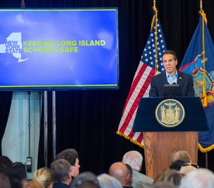 On Sept.18, 2019, New York Governor Andrew M. Cuomo launched a statewide education campaign on New York's new red flag law. The Governor hosted the first of three conferences to help teachers, school administrators and parent representatives understand the new law. (Darren McGee/Office of New York Governor Andrew M. Cuomo via AP)