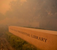 Wildfire erupts near Reagan library in Calif.