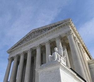 A view of the Supreme Court in Washington, Monday, Nov. 11, 2019.
