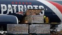 Patriots jet delivers 1M masks to Massachusetts