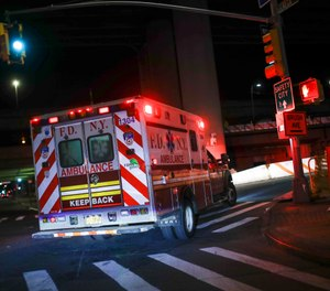 The presidents of the FDNY's firefighter and EMS unions have spoken out to criticize Mayor Bill de Blasio's comments suggesting first responder furloughs and layoffs may be necessary due to the city's $7.4 billion in revenue losses during the COVID-19 pandemic. (AP Photo/John Minchillo)