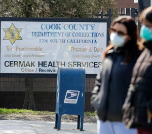 Officials in Cook County, Illinois are seeking to join lawmakers in 35 other states in approving a measure to share COVID-19 patient information with first responder agencies, but faces pushback from civil rights advocates. The county recently saw an outbreak at Cook County Jail in Chicago that has killed at least six detainees and one guard. (AP Photo/Nam Y. Huh)