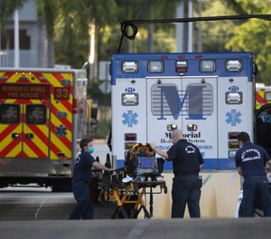 A COVID-19 curriculum and lesson plan for EMS professionals has been published for free use. The curriculum was developed by Daniel R. Gerard, MS, RN, NRP. (AP Photo/Wilfredo Lee)
