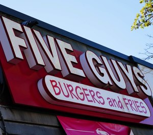 A view of a Five Guys Burgers and Fries in Queens, New York City. (Photo/John Nacion/STAR MAX/IPx)