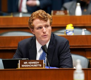 U.S. Rep. Joe Kennedy is vying for the seat occupied by Sen. Ed Markey, and polls currently reflect a tight race. (Greg Nash/Pool via AP)