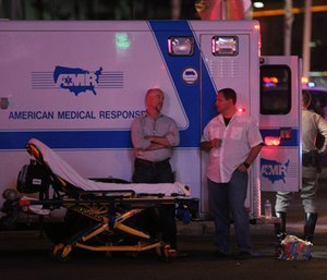 Trauma researchers now recommend that emergency medical providers be broughtto the scene as soon as possible. (Photo/AP)