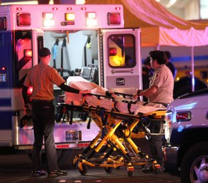 """At the EMS World Expo, Matt Levy, DO, said, """"It's what happens in the first few moments of the response that dictates who is going to survive and who is not.""""(Photo/AP)"""