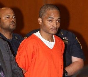 Demetrius Blackwell appears in Queens criminal court, Thursday, June 11, 2015, in New York. (Elis Kaplan/New York Post via AP, Pool)