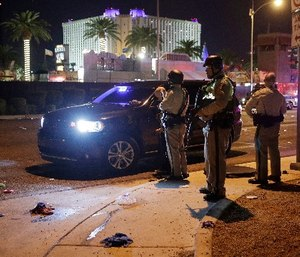 Multiple victims were being transported to hospitals after a shooting at a music festival on the Las Vegas Strip.