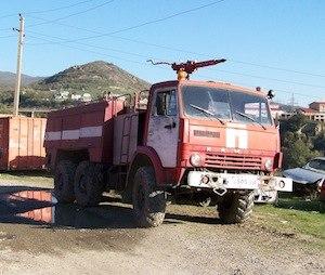 One of Mtskheta Fire Department's two fire trucks (Photo: Rick Markley).