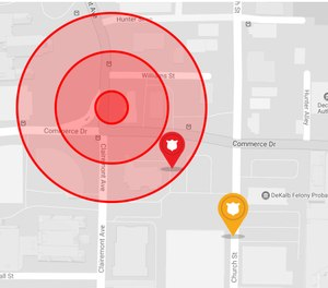 Geomapping and features like action zones enhance officer safety by giving visibility to officer locations and nearby support.