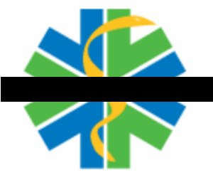 """This black bar through our """"star of life"""" mirrors the """"mourning bands"""" our paramedics wear on their badges when one of our own passes on (Courtesy Ada County Paramedics)."""