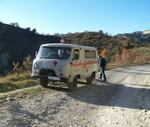 Rough terrain and old vehicles make response a challenge (Photo: Rick Markley)