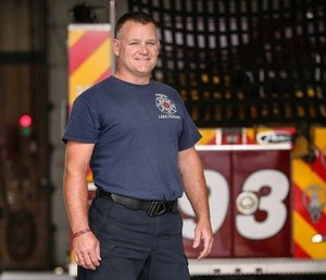 """Amputation isn't the end of anything – it's the start of something new,"" says Lt. Brandon Anderson, who returned to his department as a fully qualified firefighter less than a year after an above-the-knee amputation. (courtesy photo)"
