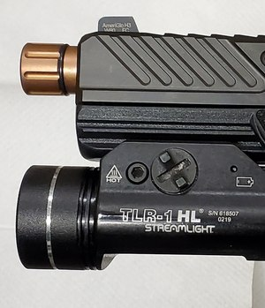 Streamlight TLR-1 attached to the DR920. The MR and DR use the same rail interface as Gen 3 or Gen 4 Glock pistols so any accessories that work with these Glocks should work with the Shadow Systems pistols.