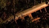 NC girls' volleyball team bus plunges down embankment; 14 hurt