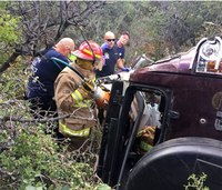 Firefighters rescue man trapped in car for 3 days