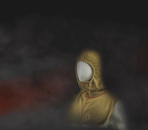 The RedZone particulate blocking firefighter hood seals contaminants out.