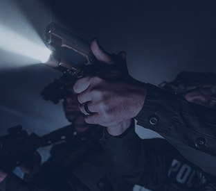 Torches for cops: Illuminate the scene with both hands on your weapon