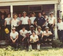 Robert Avsec (front center) as a member of CFEMS Recruit School #12 in July 1982.