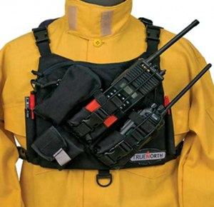 True North's Radio Chest Harness accommodates any make and model of portable radio.