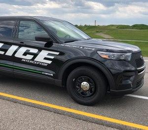The 2020 Ford Explorer hybrid police interceptor.