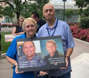 Parents of Lt. Joseph Banish lost to suicide on April 1, 2008 at the 2019 Blue H.E.L.P. Police Week event. (Photo/Blue H.E.L.P.)