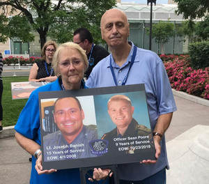 Parents of Lt. Joseph Banish lost to suicide on April 1, 2008 at the 2019 Blue H.E.L.P. Police Week event.