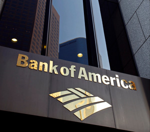 The Bank of America building is shown at the Bank of America Plaza in downtown Los Angeles on Friday Oct.8,2010.