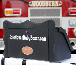 Ind. child protection officials recommend removal of these boxes from two fire stations. (Facebook Safe Haven Baby Boxes)
