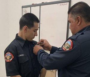 The audacity of the badge requires bold and daring acts of fortitude and bravery – not the arrogance and dismissiveness perceived as being above the law. (Photo/Soboba, Calif., Fire Department)