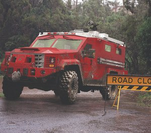 With the BearCat's all-steel armor construction, responders can rest easy knowing they're safe no matter what type of emergency they respond to. (image/Lenco Armored Vehicles)