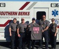 EMS responders sell t-shirts to support breast cancer awareness