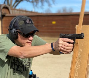 This drill can be used on any range designed for handgun training. (Photo/Robert D. Marvulli)