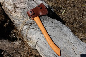 Burler axe  in a leather sheath (sold separately) for safety. (Photo/PoliceOne)