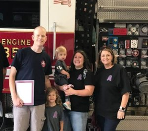 LancasterFirefighterBrandon Petersonhad battled an aggressive type of cancer.