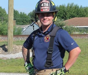 Brett Wilson was off duty when he heard a nearby crash and ran to help. (Photo/Columbia Township Fire Department Facebook)