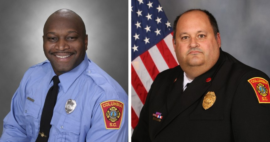 Columbia-Richland Chaplain Billie Lee Bright (left) died from COVID, and Battalion Chief Joseph Casey Desso following a brief illness.