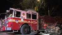 6 injured, including 4 FDNY FFs, in apparatus crash with cab