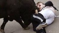 American gored in bull-running festival