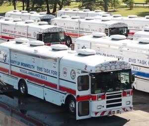 NJ/NY Regional Medical Ambulance Bus & Medical Evacuation Transport Unit Fleet. These 18 resources together are the largest regional fleet in America which can transport 300-500 patients in one single mission.