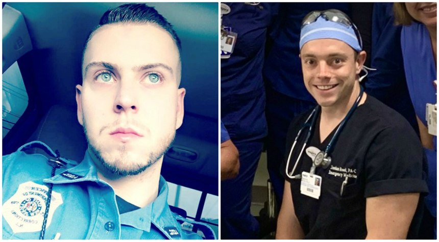 Daniel O'Beirne (left) is a corrections officer at the Adult Diagnostic and Treatment Center in Avenel, New Jersey; Jordan Reed is an emergency medicine physician assistant with almost a decade of EMT experience.