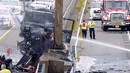 'It was like jumping into a fireplace': How a CO and former EMT saved a driver engulfed in flames
