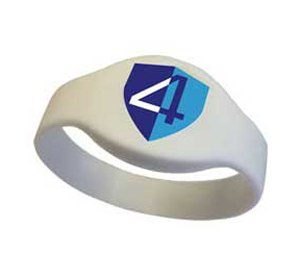 Code4Armour, an electronic app-based medical alert band that, when tapped with a smartphone, provides patient information on the screen and through the speakers of the device via the company's VitalSpeak technology. (Image Code4Armour)