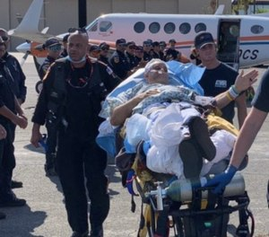 The captain, who suffered the most serious injuries, was flown back toSouthern Californiato continue treatment.