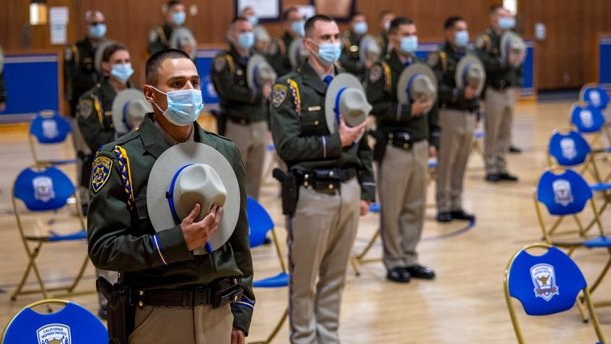 At the CHP Academy, cadet training starts with nobility in policing, leadership, professionalism and ethics, and cultural diversity.
