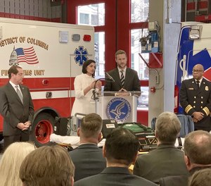 Officials from the Centers for Medicare and Medicaid Services, the U.S. Department of Health and Human Services announced the Emergency Triage, Treat and Transport (ET3) Model at a DC Fire & EMS station.