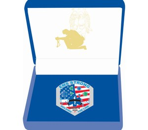 This illustration shows the design for the COVID-19 EMS Memorial Challenge Coin which will be available for purchase starting June 1, with proceeds going toward the National EMS Memorial Service.