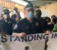 Police praised for marching in Floyd protests